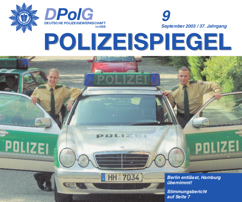 Polizeispiegel September 2003